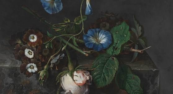 DISMAR DEGEN, BLUMENSTÜCK, 1727  Leinwand, 23,9 x 28,4 cm © Bayerische Staatsgemäldesammlungen, Staatsgalerie in der Neuen Residenz Bamberg