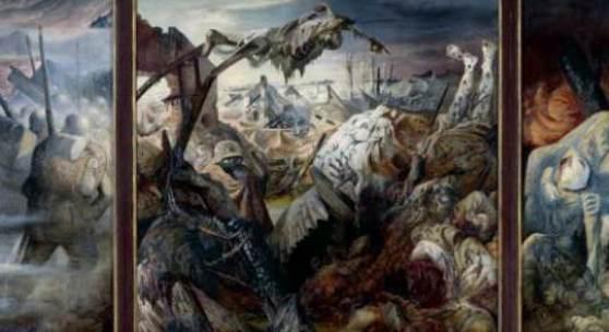 Otto Dix, Der Krieg (Triptychon), 1929/32, Mischtechnik auf Sperrholz, Galerie Neue Meister, copyright: Staatliche Kunstsammlungen Dresden