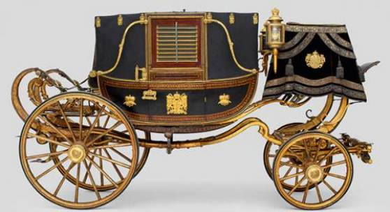 Landauer des Wiener Hofes Plakatmotiv Wien, um 1814 Kaiserliche Wagenburg Wien © KHM