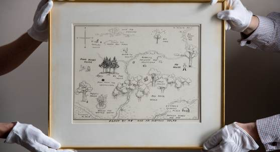 E.H Shepard  The original map of The Hundred Acre Wood