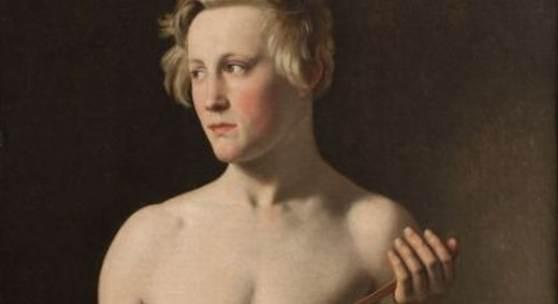 Christoffer Wilhelm Eckersberg (1783–1853), Stehendes männliches Aktmodell, einen Stab haltend. Carl Frørup, 1837 Öl auf Leinwand, 94,5 x 62,5 cm The Royal Academy of Fine Arts, The Academy Council Foto: Frida Gregersen