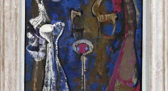 """Edgar Jené (Saarbrücken 1904-1984 La Chapelle St. André) """"Aprés midi"""", 1953, Öl auf Lwd., 73 x 60 cm Mindestpreis: Aufrufpreis:1.620 EUR Schätzpreis:1.800 EUR"""