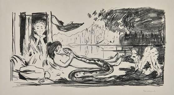 Edvard Munch, Die Wolke, 1908/09, Museum Kunst der Westküste, Alkersum/Föhr, Foto: Lukas Spörl