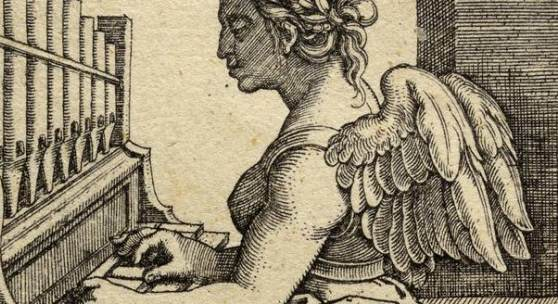 Abb.: Hans Sebald Beham (1500–1550), Die Musik aus der Folge der sieben freien Künste, Kupferstich, Frankfurt am Main, zwischen 1530 und 1550, MKG
