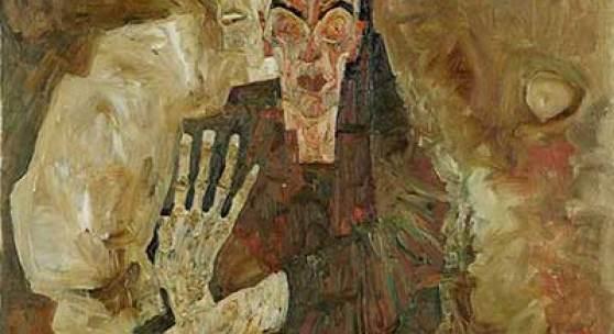 Egon Schiele: Selbstseher II (Tod und Mann), 1911, Öl auf Leinwand, 80,5 x 80 cm, Leopold Museum, Wien, LM 451 © Fotografie Leopold Museum, Wien