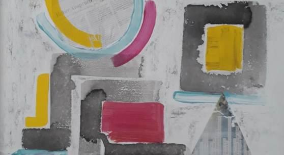 Ehrenreich Silvia - Zukunftsaussicht, Collage, 50 x 60 cm
