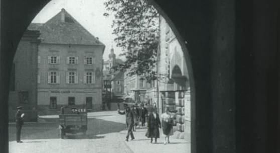 Ein Spaziergang durch Graz (Kaderscan),  Produktion: Österreich in Bild und Ton Nr. 50a/1934, s/w, Ton, © Filmarchiv Austria