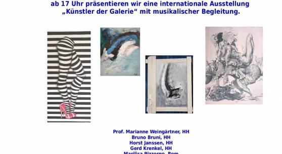 """Ausstellung """"Künstler der Galerie"""" in der Galerie Rotes Sofa"""