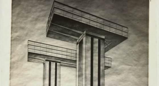 El Lissitzky, The Wolkenbügel, 1925,  Blick auf Strastnoi Boulevard, Sammlung Van Abbemuseum, Foto: Peter Cox