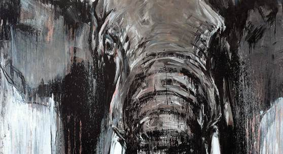 Ralf Koenemann, Elefant75 160x200cm.
