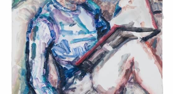Elizabeth Peyton Raphael, (Nick Reading), 2018 Oil on board 124.5 x 91.4 cm