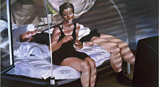 Eric Fischl: The Krefeld Project: The Bedroom. Scene 1, 2002  Öl auf Leinwand (ALBERTINA, Wien – The JABLONKA Collection © Eric Fischl / Bildrecht, Wien, 2019)
