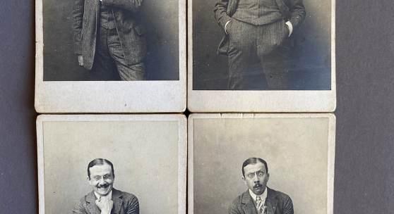 Eugen Herz, der sich in seiner Jugend auch als Schauspieler versuchte, zeigt verschiedene Figuren. © Österreichische Nationalbibliothek