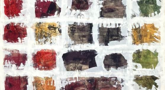 Evelyn Grill, Social Distancing, 2020 Siebdruck, Acryl auf Leinwand, 270 x 140 cm © Evelyn Grill   Abdruck honorarfrei bei Namensnennung