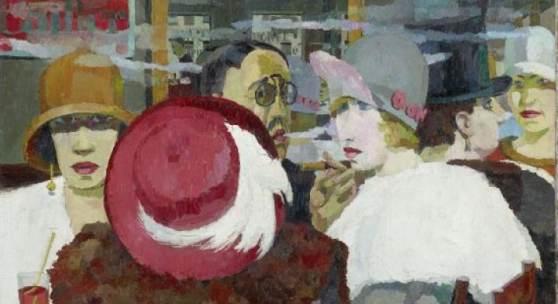 Im Café, 1925, Lindenau-Museum Altenburg © VG Bild-Kunst Bonn, 2018