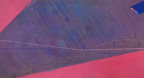 Frank Lippold, Lineament 1, Relief in bemaltem Sperrholz, 122 x 244 cm, 2017, Besitz des Künstlers, Foto: Frank Lippold