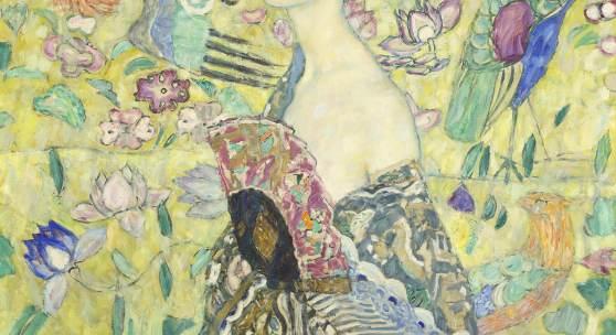 Gustav Klimt, Dame mit Fächer, 1917-18  Leihgabe aus Privatbesitz © Belvedere, Wien, Foto: Markus Guschelbauer