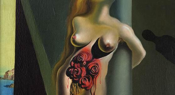 Salvador Dalí, Blutende Rosen, Les roses sanglantes, 1930, Öl auf Leinwand, 61 x 50 cm