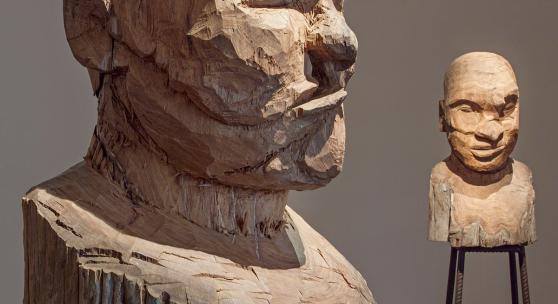 Kader Attia, Culture: Another Nature Repaired, 2014 Ausstellungsansicht Musée Cantonal des Beaux-Arts, Lausanne, 2015 Foto: Nora Rupp, Courtesy of the artist, © 2019 ProLitteris, Zurich