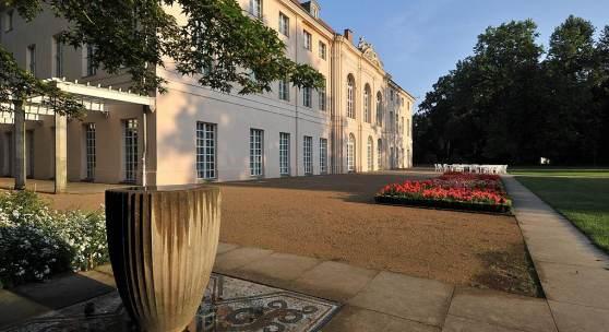 Gartenseite des Schlosses Schönhausen in Berlin. Foto: SPSG/Leo Seidel