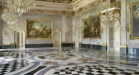 Restauriert: Der Marmorsaal im Neuen Palais. Foto: SPSG/Wolfgang Pfauder Datei-Größe: 1.0
