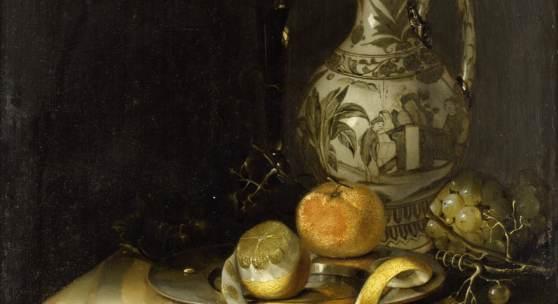 Forbes, Pieter: Stillleben mit Henkelkrug und Früchten, 1663, GK I 51200 © SPSG / Foto: Wolfgang Pfauder