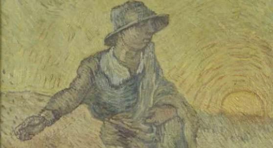 Leonhard Wacker in der Manier von Vincent van Gogh: Sämann, Ende der 1920er Jahre, Öl auf Leinwand, 75 x 58,5 cm, Privatbesitz, Foto: Ralf Lehmann