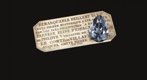The Farnese Blue A historic 6.16 carat pear-shaped fancy dark grey-blue diamond  Est. CHF 3.5 - 5 million (US$ 3.7 - 5.3 million)