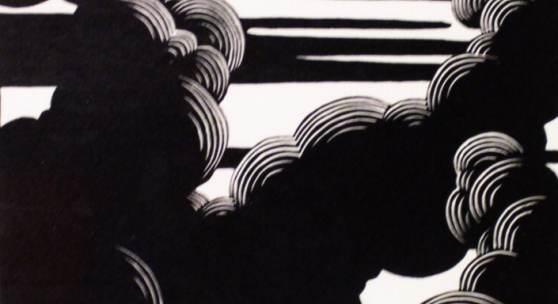 Félix Vallotton, Wolken, o. J., Holzschnitt, 27 x 18,5 cm. Städtische Kunstsammlung Wilhelmshaven