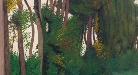 Félix Vallotton (1865–1925) Paysage au paysan, Honfleur 1912 Öl auf Leinwand 146 x 97 cm  Schätzpreis:300.000 - 400.000 CHF