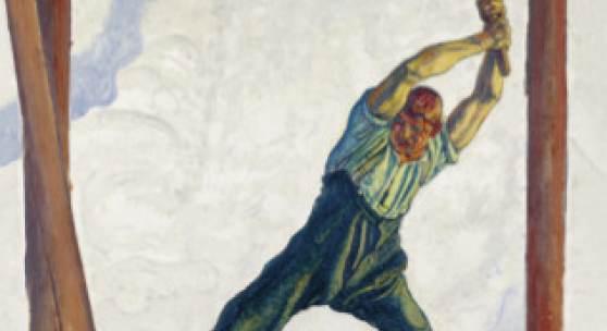 Ferdinand Hodler, Der Holzfäller, um 1910, 130 × 105 cm, Kunstmuseum Luzern, Depositum der BEST Art Collection Luzern