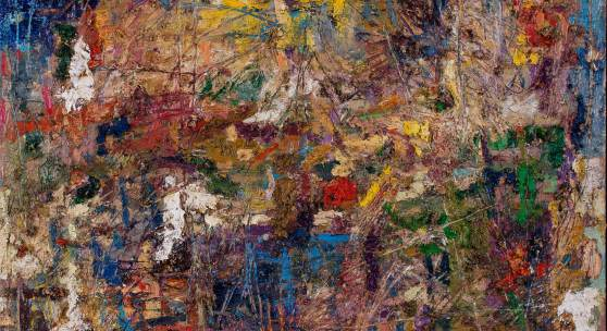 Figurative Landschaft 1999 Öl auf Leinwand 100 cm x 110 cm Druck