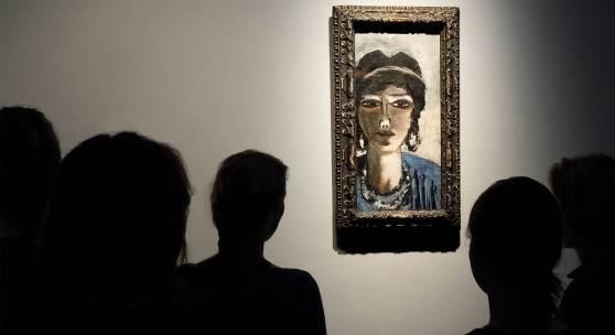 """Frauenportrait Max Beckmanns aus dem Jahre 1942, """"Die Ägypterin"""""""