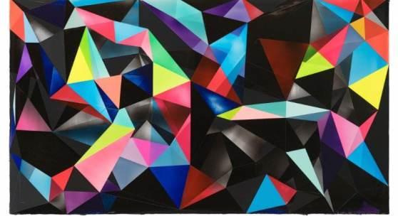 Shannon Finley, Torrent 01, 2019, Acryl auf Leinwand, 80 x 140 cm, Courtesy Galerie Walter Storms, München © S. Finley