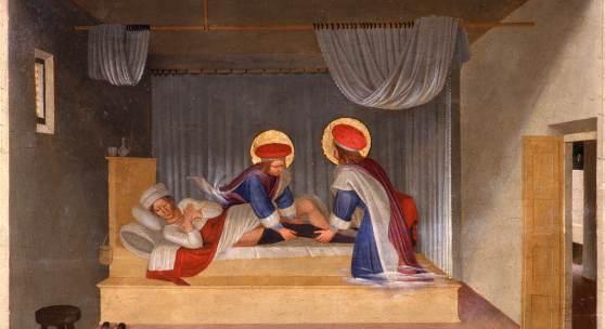 Fra Angelico, Traum des Diakons Justinian, um 1438/40 Pappelholz 38 x 46,7 cm Florenz, Museo di San Marco © Florenz, Gabinetto Fotografico delle Gallerie degli Uffizi