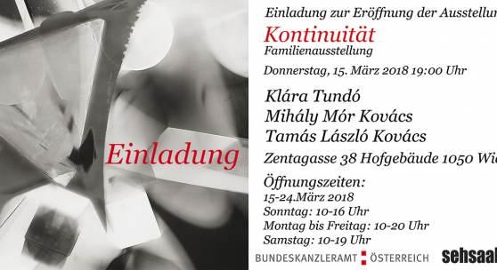 "Flyer zu Ausstellung: ""Kontinuität (Familienausstellung)"""