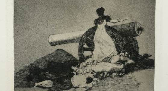 Francisco de Goya, Que valor! (Welcher Mut!), ca. 1810-1815, Radierung und Aquatinta, aus dem Zyklus Los Desastres de la Guerra [Desastres 7], Stadtmuseum Oldenburg
