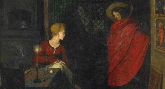 Bildunterschrift Nächtliche Heimkehr. Monogrammiert und datiert unten auf der Tafel: FP 1809. Öl auf Leinwand. 26 x 20cm. Schätzpreis: 130.000 – 150.000 Euro Rückseitiges Etikett: