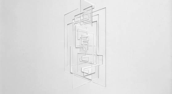 Franz Riedl, Ohne Titel (II), Papierrelief, Karton geschnitten, 52 x 72 cm, 2017
