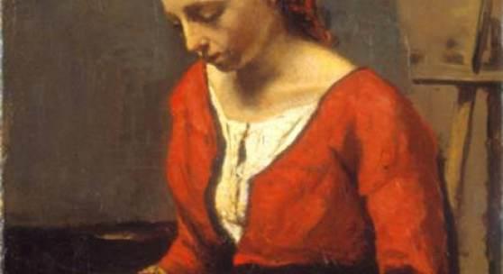 Camille Corot, Lesendes Mädchen, um 1845 / 1850 Stiftung Sammlung E. G. Bührle, Zürich