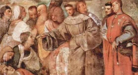 Renaissance Maler, Malerei; Tizian, Fresken der Wunder des Antonius von Padua (Das Wunder des Heilung eines abgeschlagenen Beines) Quelle: www.oel-bild.de