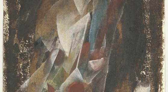 Fritz Winter, Triebkräfte der Erde, 1944 Mischtechnik auf Papier, 296 x 210 mm Fritz-Winter-Stiftung, Bayerische Staatsgemäldesammlungen Foto: Johannes Haslinger, Bayerische Staatsgemäldesammlungen © VG Bild-Kunst, Bonn 2018