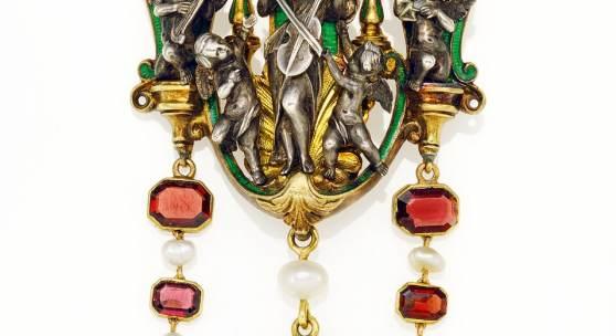"F.-D. Froment-Meurice Brosche ""Harmonie"" Frankreich, um 1850 Taxe:4.500 – 5.000€"