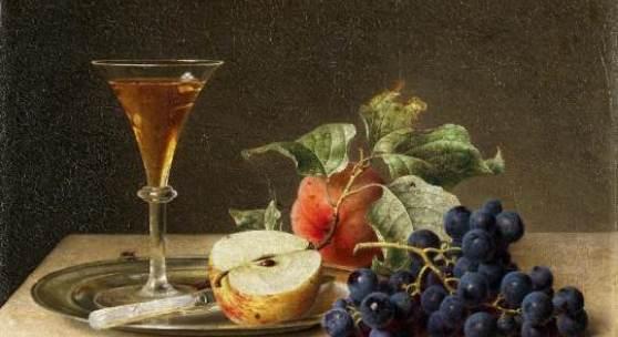 """Preyer, Emilie """"Stillleben mit Sektglas"""" Öl auf Leinwand. 25,5 x 34,5 cm. Ergebnis: € 52.500"""