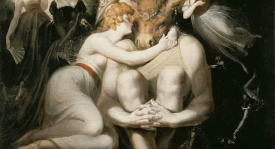 Johann Heinrich Füssli Titania liebkost Zettel mit dem Eselskopf, 1793–1794 Öl auf Leinwand, 169 x 135 cm Kunsthaus Zürich, Vereinigung Zürcher Kunstfreunde