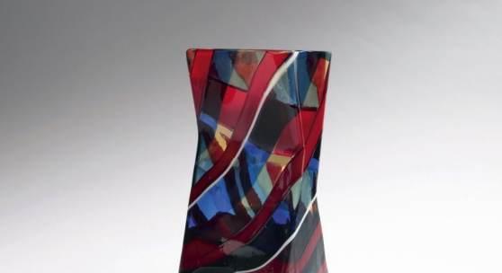 Fulvio Bianconi, Hochbedeutende und äußerst seltene Vase 'Scozzese', 1954-57 Aufrufpreis:50.000 EUR Schätzpreis:50.000 - 80.000 EUR