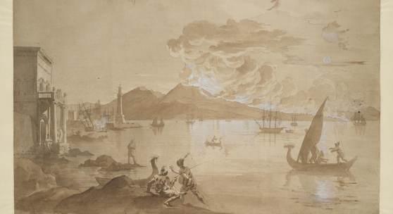 Emel'jan Michailowitsch Korneev, Ausbruch des Vesuvs, geschehen am 12. August um 11 Uhr nachmittags im Jahr 1805, 1805