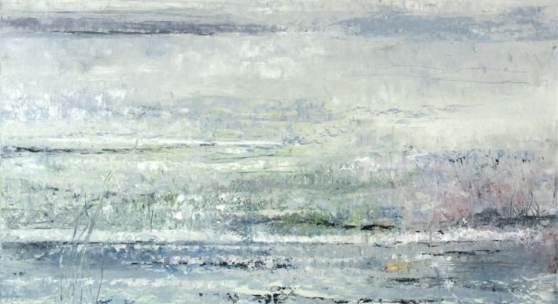 Bild    33: Gabriele Einstein, Lichtspiel VI, Öl auf Leinwand, 2020, 100&90 cm. Gerahmt in Schattenfugenleiste: 2.200 €