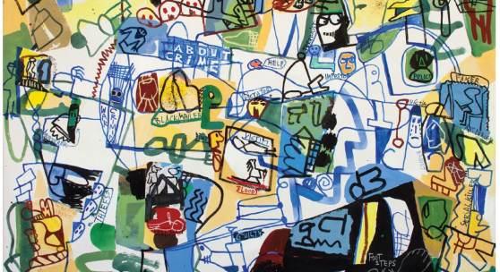 Jan Voss, About Crime, Entstehungsjahr 2014, Größe H/B/T: 165 x 235 cm