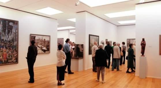 Blick in die Ausstellung   Foto: Städtische Galerie Dresden – Kunstsammlung, Museen der Stadt Dresden